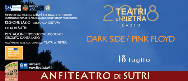 Dark Side / Pink Floyd all'Anfiteatro Romano a Sutri