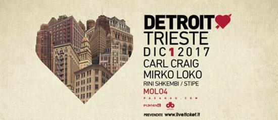 DetroitLove - Carl Craig e Mirko Loko al Molo 4 Trieste