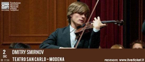 Dmitry Smirnov al Teatro San Carlo a Modena