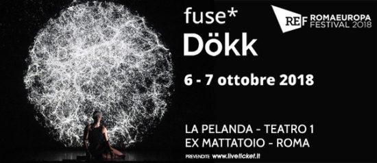 "Romaeuropa Festival 2018 - Fuse* ""Dökk"" a La Pelanda a Roma"