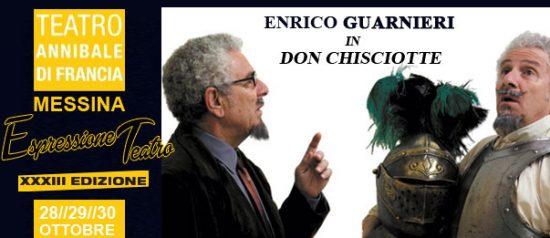 """Enrico Guarneri in """"Don Chisciotte"""" al Teatro Annibale di Francia a Messina"""