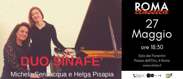 """""""Roma Classica"""" Duo Sinafè alla Sala dei Fiorentini a Roma"""