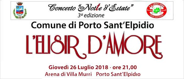 L'elisir d'amore all'Arena di Villa Murri a Porto Sant'Elpidio