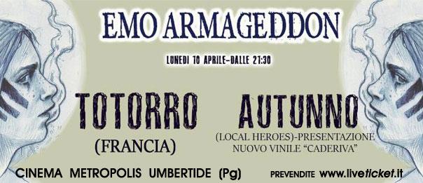 Emo Armageddon part 1 - Totorro + Autunno al Cinema Metropolis di Umbertide