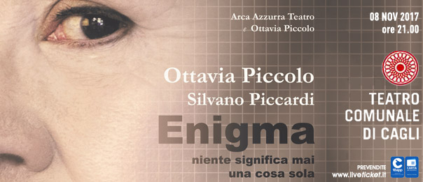 Enigma - Niente significa mai una cosa sola al Teatro di Cagli
