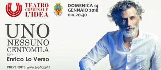 """Enrico Lo Verso """"Uno, Nessuno, Centomila"""" al Teatro L'Idea di Sambuca di Sicilia"""