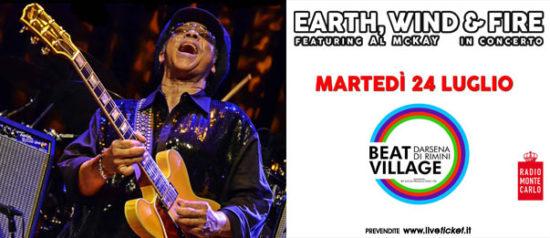 Earth Wind & Fire feat All McKay al Beat Village alla Nuova Darsena di Rimini