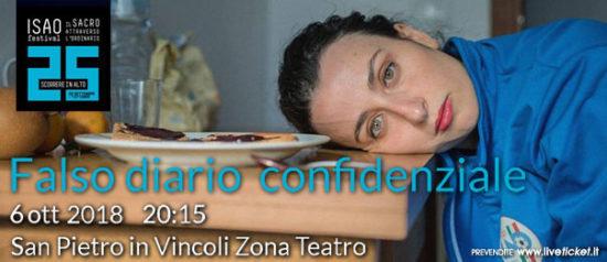 """Isao Festival """"Falso diario confidenziale"""" a San Pietro Cripta a Torino"""
