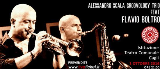 """""""Alessandro Scala Groovology Trio feat. Flavio Boltro"""" al Teatro di Cagli"""