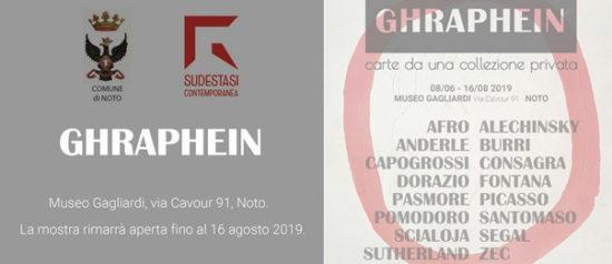 """""""Ghraphein. Carte da una collezione privata"""" al Museo Civico Gagliardi di Noto"""