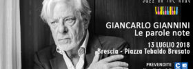 """Giancarlo Giannini """"Le parole note"""" al Festival Jazz on the Road a Brescia"""