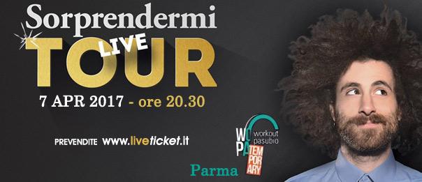 """Gio Evan """"Sorprendermi Tour live"""" al WoPa Temporary di Parma"""