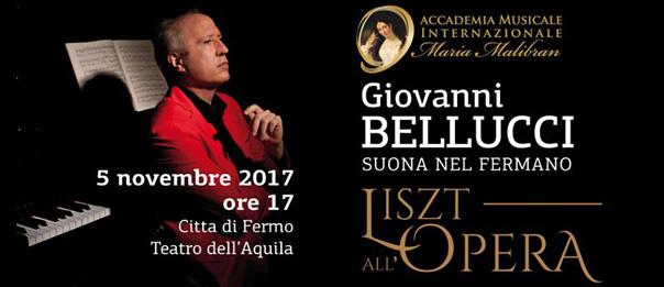 """Giovanni Bellucci """"Liszt all'Opera"""" Récital al Teatro dell'Aquila di Fermo"""