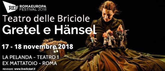 """Romaeuropa Festival 2018 - Teatro delle Briciole """"Gretel e Hänsel"""" a La Pelanda a Roma"""
