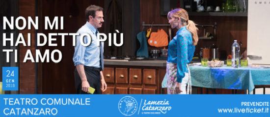 """Lorella Cuccarini e Giampiero Ingrassia """"Non mi hai detto più ti amo"""" al Teatro Comunale di Catanzaro"""