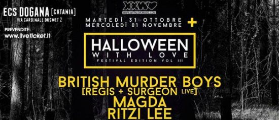 Halloween With Love - Festival edition vol. III al ECS Dogana Club a Catania