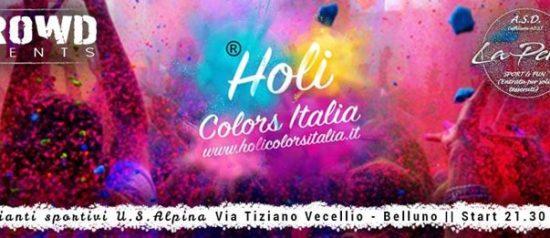 Holi - Color Party al Campo sportivo U.S. Alpina a Belluno