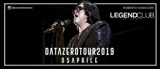 Renato Zero Tribute - Data Zero - Icaro Tour 2019 al Legend Club di Milano