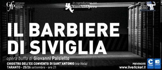 """""""Il barbiere di Siviglia"""" Giovanni Paisiello Festival al Chiostro di Sant'Antonio a Taranto"""