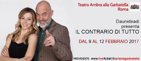 Il contrario di tutto al Teatro Ambra Garbatella di Roma