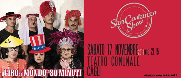 """San Costanzo Show """"Il giro del mondo in 80 minuti"""" al Teatro Comunale di Cagli"""