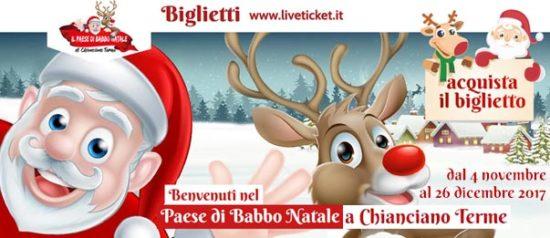 Il Paese di Babbo Natale 2017 al Parco Acquasanta a Chianciano Terme
