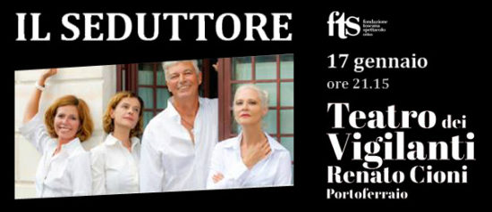Il seduttore al Teatro dei Vigilanti Renato Cioni a Portoferraio
