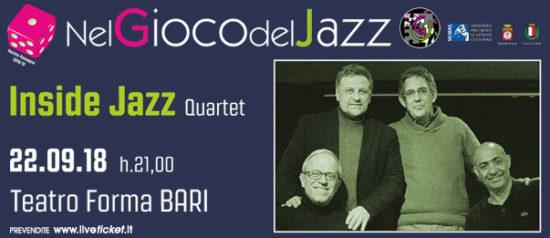 Inside Jazz Quartet al Teatro Forma di Bari