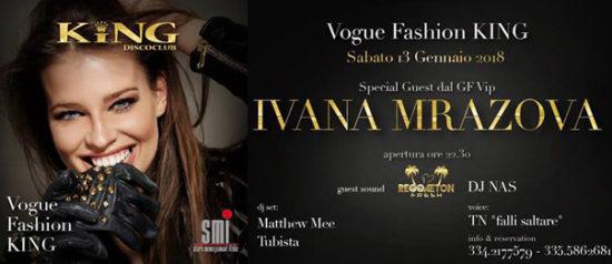 Vogue Fashion - special guest Ivana Mrazova al King Disco Club di Castel San Giovanni