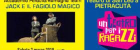 Jack e il fagiolo magico al Teatro di Pietracuta di San Leo