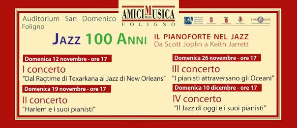 Jazz 100 anni all'Auditorium San Domenico di Foligno