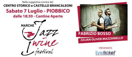 """Fabrizio Bosso e Julian Oliver Mazzariello """"Tandem"""" in Piazza Sant'Antonio a Piobbico"""