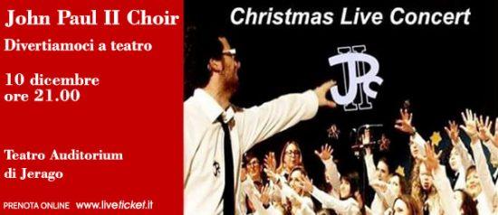 "Christmas concert ""John Paul II Choir"" al Teatro Auditorium di Jerago"