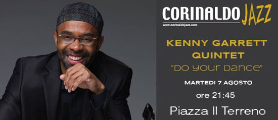 "Kenny Garrett Quintet ""Corinaldo Jazz 2018"" in Piazza Il Terreno a Corinaldo"
