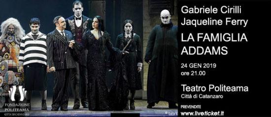 """Gabriele Cirilli - Jaqueline Ferry """"La famiglia Addams"""" al Teatro Politeama di Catanzaro"""
