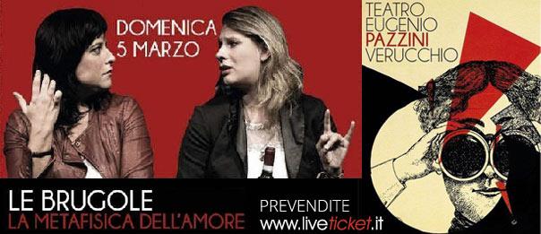 """Le Brugole """"La metafisica dell'amore"""" al Teatro Pazzini di Verucchio"""