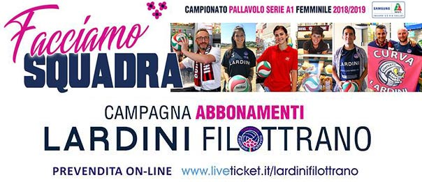 Lardini Filottrano Volley - Campionato serie A1 Stagione 2018/19