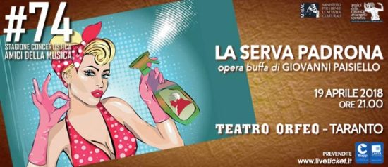 La serva padrona al Teatro Orfeo di Taranto
