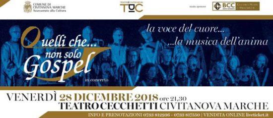 La voce del cuore...la musica dell'anima al Teatro Cecchetti a Civitanova Marche