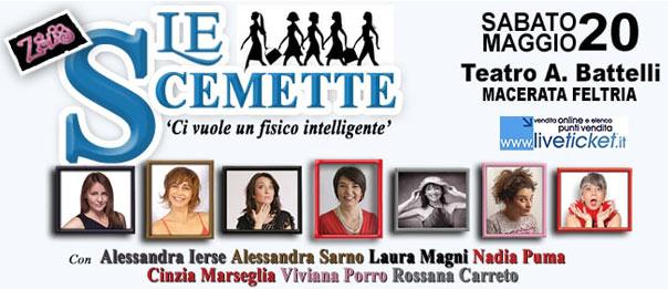 """Le scemette """"Ci vuole un fisico intelligente"""" al Teatro Battelli di Macerata Feltria"""