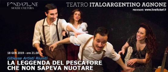 La leggenda del pescatore che non sapeva nuotare al Teatro Italo Argentino di Agnone