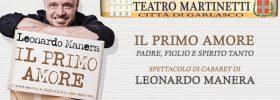 """Leonardo Manera """"Il primo amore"""" al Teatro Martinetti di Garlasco"""