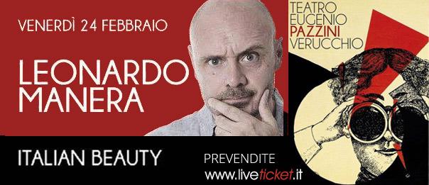"Leonardo Manera ""Italian Beauty"" al Teatro Pazzini di Verucchio"