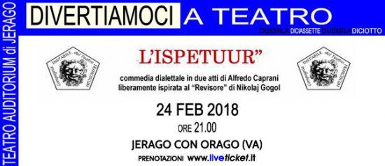 L'Ispetuur all'Auditorium Jerago a Jerago con Orago