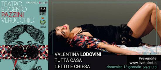 """Ludovica Lodolini """"Tutta casa, letto e chiesa"""" al Teatro Eugenio Pazzini di Verucchio (RN)"""