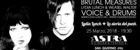 Lydia Lunch + La storia del punk al Teatro Astra di San Giustino