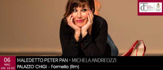 """Michela Andreozzi """"Maledetto Peter Pan"""" al Palazzo Chigi di Formello"""
