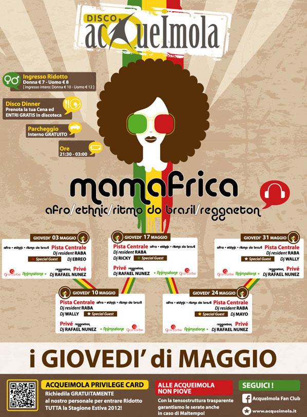 Mamafrica, i giovedì di Maggio all'Acque Imola