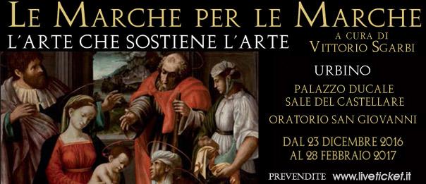 """""""Le Marche per le Marche. L'Arte che sostiene l'Arte"""" ad Urbino"""