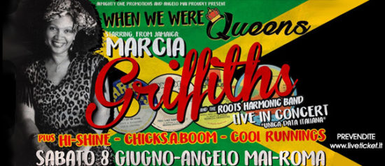 """When we were Queens: Marcia Griffiths"" all'Angelo Mai di Roma"